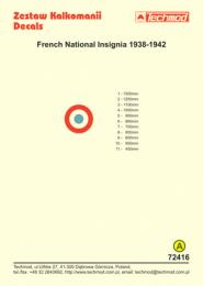 TECHMOD 1/72 French National insignia 1938-1942