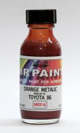 Mr.Paint MRP-6  Orange metalic (similar to Toyota 86) 30ml