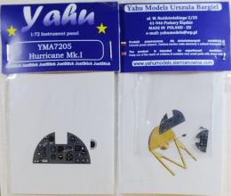 YAHU 1/72 Hawker Hurricane Mk.I Early instrument panel for AIR