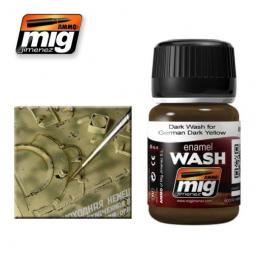 AMMO.MIG Enamel Wash Brown Wash for German Dark Yellow