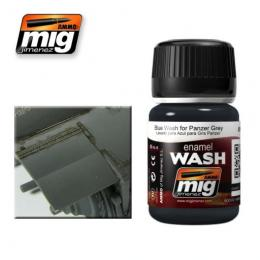 AMMO.MIG Enamel Wash Blue Wash for Panzer Grey
