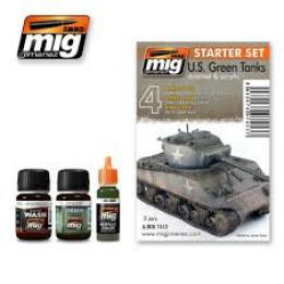 AMMO.MIG U.S Green vehicles set