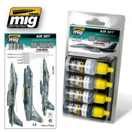 AMMO.MIG US NAVY Colors from 80s to present Set 4x17ml  Color set