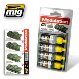 AMMO.MIG Russian 4BO Modulation Color Set 4x17ml