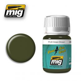 AMMO.MIG Panel Line Wash Green Brown 35ml