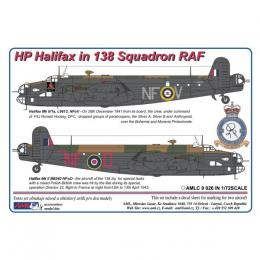 AML Decals 1/72 Handley Page Halifax in 138.Special duties Squadron