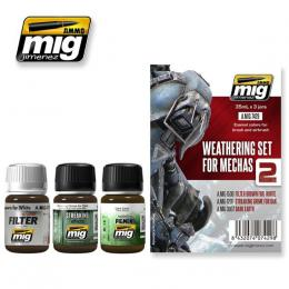 AMMO.MIG 7429  Weathering Set for Mechas