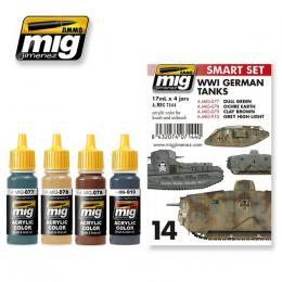 AMMO.MIG 7144 WWI German Tanks Color set (4x17ml)