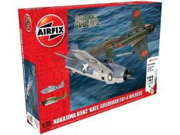 AIRFIX 1/72 Kate B5N+ Grumman Wildcat F4F Dogfight Doubles Gift set