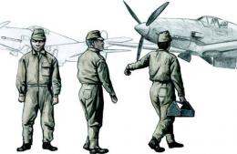 CMK 1/72 Japanese Army Mechanics Crew 3 fig.