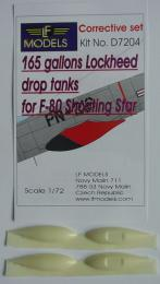 LF Resin 1/72 Drop tanks for F-80 Shooting star 165 gal - zvìtšit obrázek