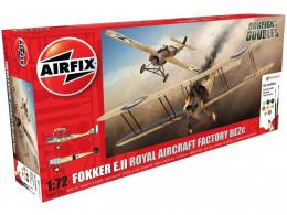 AIRFIX 1/72 Fokker EIII/BE2C Dogfight Doubles Gift Set
