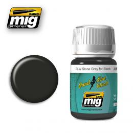 AMMO MIG Panel Line Wash Stone Grey for Black 35ml