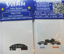 YAHU 1/72 Lancaster Instrument panel for AIR