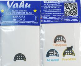YAHU 1/72 Bf-109G Instrument panel for AZ