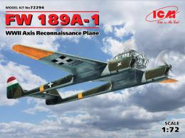 ICM 1/72 Fw-189A-1 Uhu Axis Reconnassaince plane