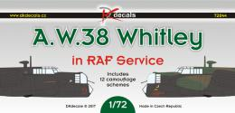 DK Decals 1/72 Amstrong Whitworth Whitley