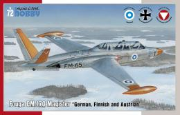 SPECIAL HOBBY 1/72 Fouga Magister Fouga CM.170 Magister Finnish, German and Austrian Service