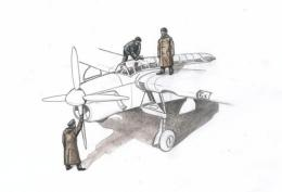 CMK 1/72 Fairey Barracuda Mechanics w/Raincoats