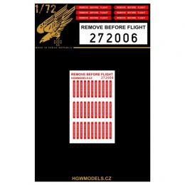 HGW 1/72 Remove Before Flight Double sided