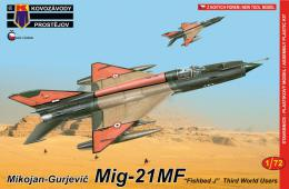 KOVOZÁVODY 1/72 MiG-21MF Third World Serv.