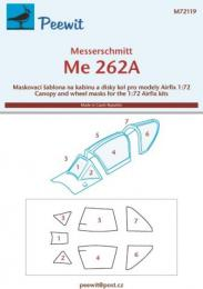 PEEWIT 1/72 Canopy Mask Me-262A for AIRFIX