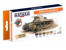 HATAKA Orange Set CS-90 German AFV in Africa Laquer paint set