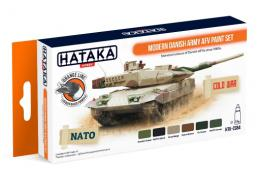 HATAKA Orange Set CS-84 Modern Danish Army AFV Paint set - Laquer