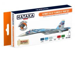 HATAKA Orange Set CS-83 Ultimate Su-33 Flanker-D Paint set - Laquer