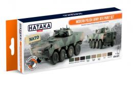 HATAKA Orange Set CS-72 Modern Polish Army AFV Paint set - Laquer