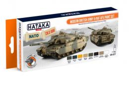 HATAKA Orange Set CS-77 Modern British army + RAF AFV paint set Laquer
