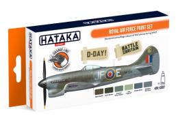 HATAKA Orange Set CS-07 RAF Paint Set Laquer