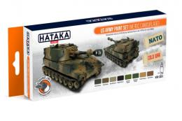HATAKA Orange Set CS-51 U.S Army Paint set (MERDC) Laquer