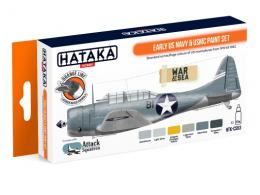 HATAKA Orange Set CS-53 Eary U.S Navy + USMC Lauqer set