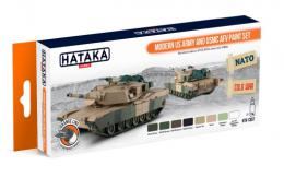 HATAKA Orange Set CS-67 Modern US Army and USMC AFV paint Set
