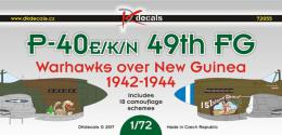 DK Decals 1/72 P-40E/K/N 49th FG over New Guinea
