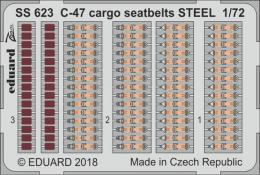 EDUARD ZOOM 1/72 C-47 Skytrain Cargo seatbelts STEEL for HBB