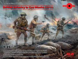 ICM 1/35 WWI British infantry in Gas Mask 1917 (4 fig)