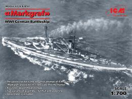 ICM 1/700 Markgraf WWI German Battleship