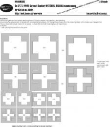 NEW WARE 1/48 Mask Do17 Z-2 NATIONAL INSIGNIA (ICM 48244)