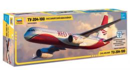 ZVEZDA 1/144 Tupolev TU-204-100 RED WINGS Civil Airliner