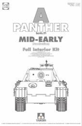 TAKOM 1/35 Pz.Kpfw V ausf.A Panther Early-Mid w/ Full Interior