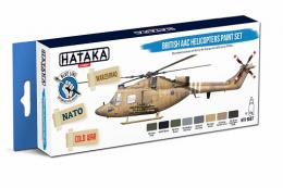 HATAKA Blue Set BS87 British AAC Helicopters paint set 8 x 17ml