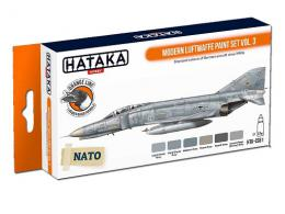 HATAKA Orange CS61 Modern Luftwaffe paint set vol. 3 6 x 17ml - zvìtšit obrázek