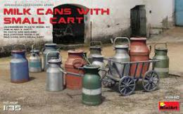 MINIART 1/35 Milk Cans with Small Cart