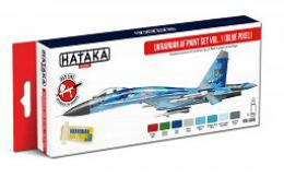 HATAKA Red Set - Ukrainian AF paint set vol. 1 (Blue Pixel) 8 x 17ml