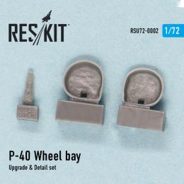 RESKIT 1/72 P-40 (D,E,F,K,M,N) Wheel bay for SH