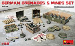 MINIART 1/35 German Grenades & Mine Set