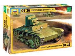 ZVEZDA 1/35 OT-26 Flamethrower Tank