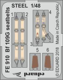 EDUARD ZOOM 1/48 Bf 109G seatbelts STEEL  for EDU